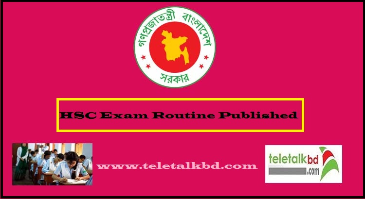 HSC Exam Routine 2020 All Education Board