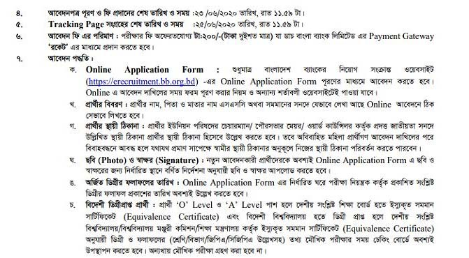 Bangladesh Bank Job Apply Process
